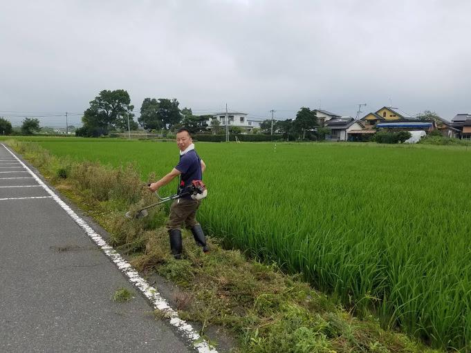 【初めての草刈り】